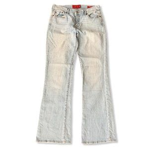 Lucky Brand light wash sweat low jeans